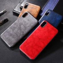 Fall für iphone xr x xs max funda luxus Vintage Leder haut capa für iphone xr x xs max fall silikon telefon abdeckung coque