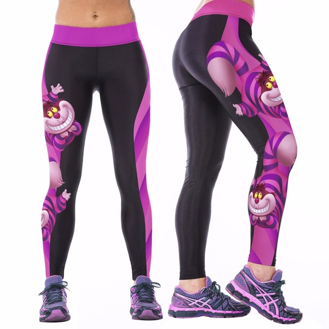 2017 Sexy Womens YOGA Workout Gym Digital Printing Sports Pants Fitness Stretch Trouser Hot Sale