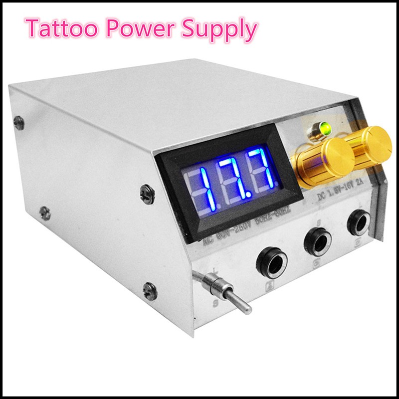 Professional body art rotary tattoo gun machine+needles+inks power supply full set tattoo kit set