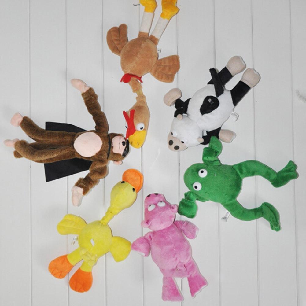 1pc Soft Cute Children Boy Girl Child Kids plush Slingshot Screaming Sound Mixed for Choice Plush Flying Monkey Toy 6 styles