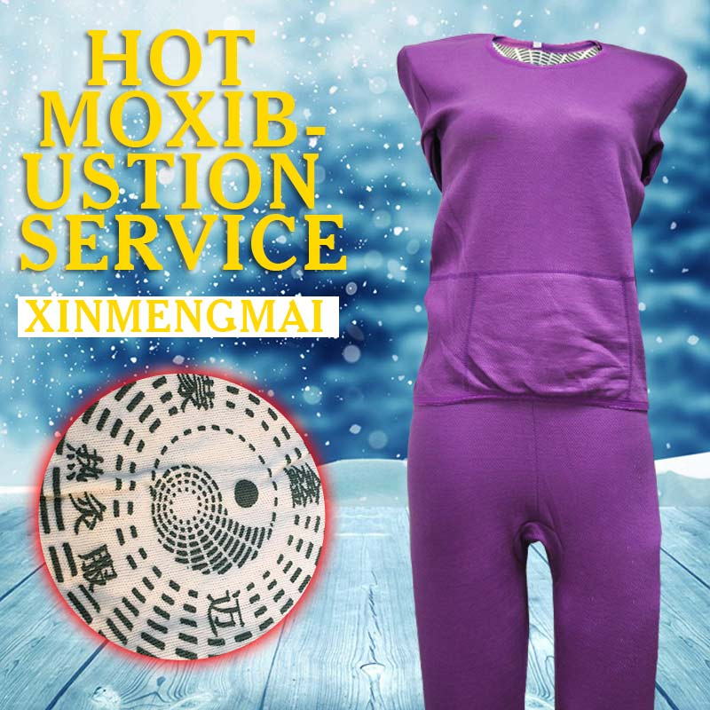 Clothing Set Ladies Purple Warm Thickened Magnetic Therapy Underwear Comfortable Warm Moxibustion Set