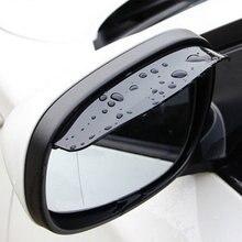 2 pçs pvc carro volta espelho sobrancelha capa de chuva adesivo para fiat 500 600 500l 500x diagnóstico punto stilo bravo acessórios automóveis