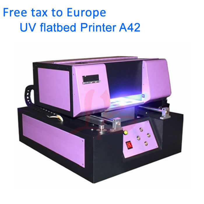 No tax, A4 UV Printer 210*400mm Automatic Phone Case UV Led Flatbed Printer for Textile,Plastic,Leather,Glass,Metal,Acrylic,etc ce certification a4 mini uv flatbed printer for photos printing