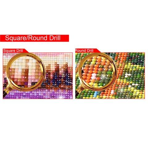 "Full Square Drill 5D DIY Diamond Painting ""dog to wolf"" 3D Embroidery set Cross Stitch Mosaic Decor gift  YY Karachi"