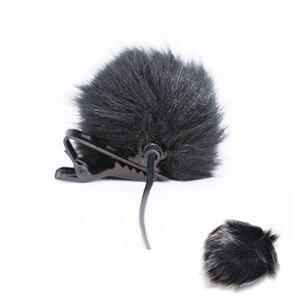 Image 4 - Fourrure artificielle pare brise pare brise coupe vent pour revers Lavalier Microphone Mic