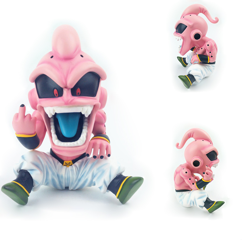2018 New 12cm Dragon Ball Z DBZ Evil Majin Buu/Boo GK Resin Statue Action Figure Toy Collection Model Brinquedos Figurals Gift q version dragon ball z majin buu figure doll action figures toys great gift