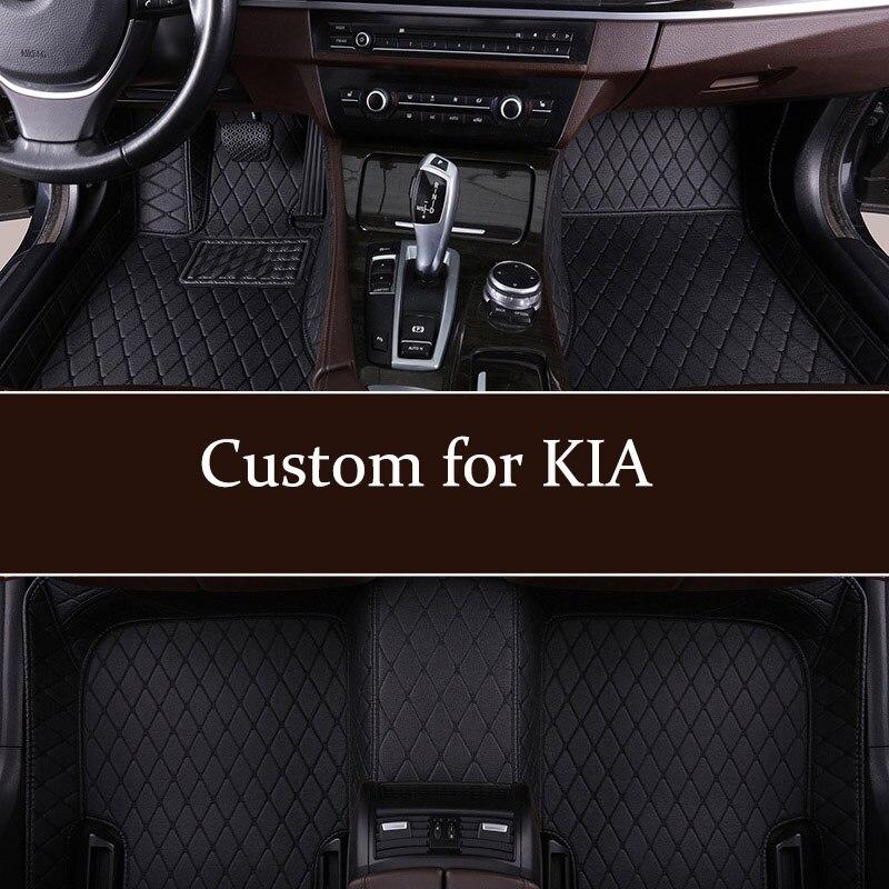 Car Floor Mats For KIA Niro Rio K3 K5 Soul Ceed Cerato Forte Spectra Sportage Optima Opirus Proceed Sid Stinger Sorento Carens