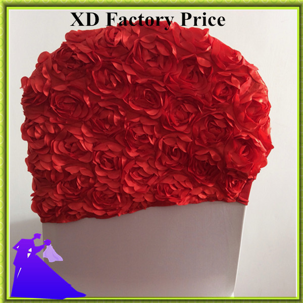 Hot selling promotional fancy wedding decoration 50pcs red chair hood free shipping