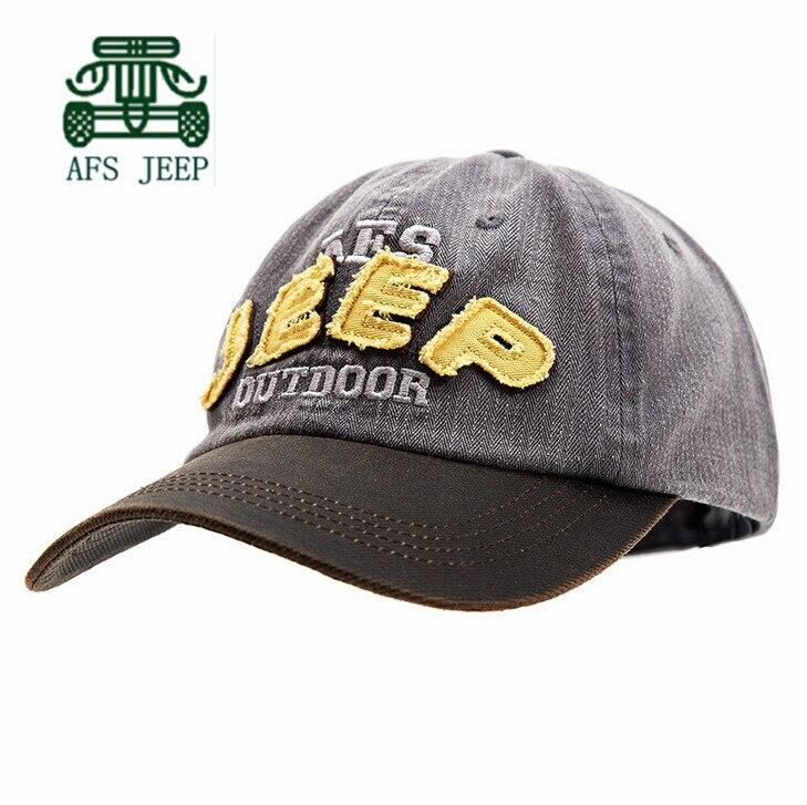 Prix pour AFS JEEP 2015 Coton Réglable Taille Hommes et Femmes Casquettes de Baseball, de Bonne Qualité Hommes Écran Solaire De Sport Chapeaux