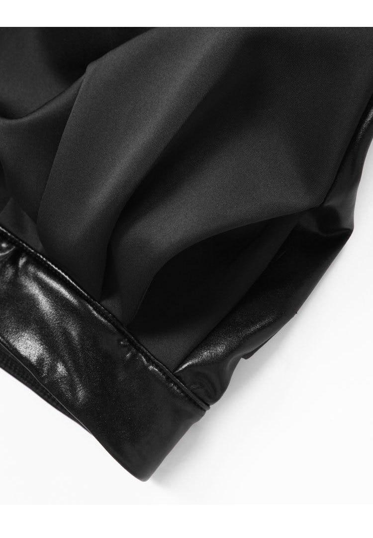 Artı Boyutu 3XL Pamuk Karışımlı Ve Suni Deri Düz Renk Klasik - Bayan Giyimi - Fotoğraf 6