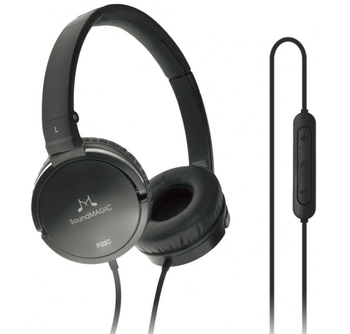 New SoundMAGIC P22C Portable Headphones with Universal Smartphone Controls Mic headset black or white color