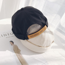 Mens Adjustable Retro Crimping Brimless Skull Cap Autumn Summer Beanies For Men Beanie Hat Slouchy Hip Hop Bonnet New