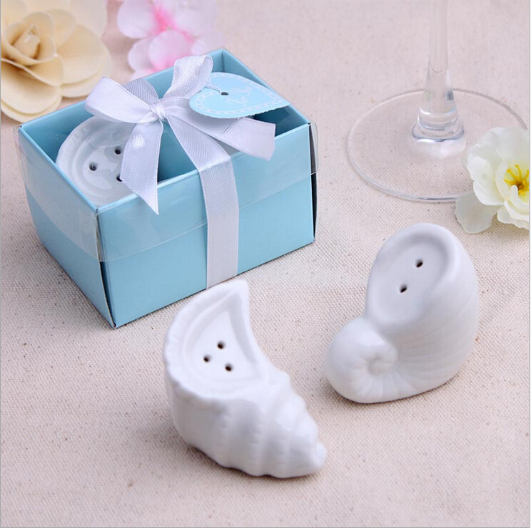50sets Beach Themed Wedding Favors Gift A Pair Of Conch Ceramics