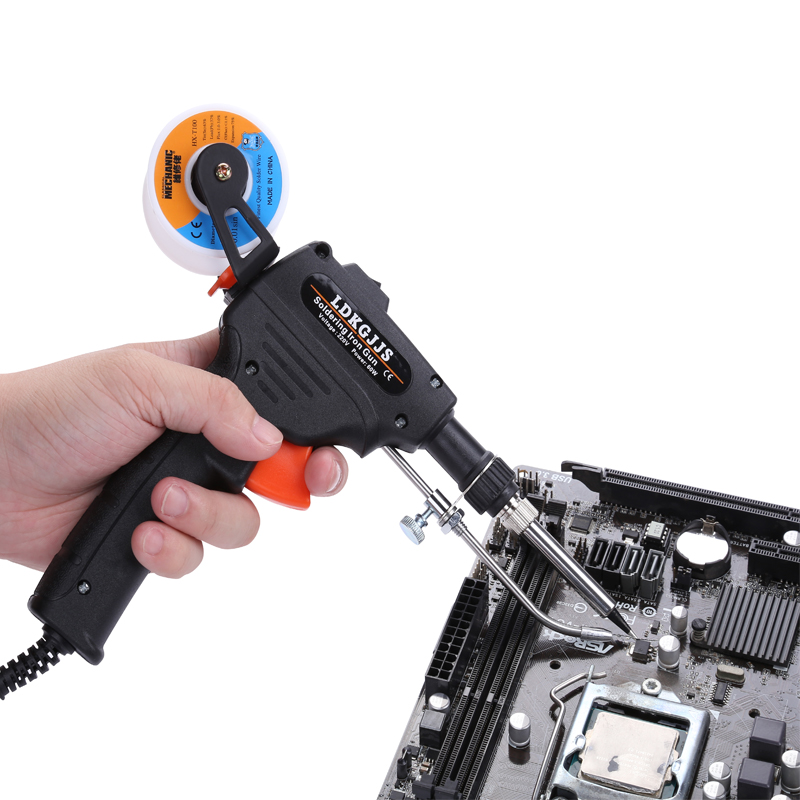 220V 60w Hand-held Soldering Iron Automatic Send Tin Gun Electronic Solder Rework Station Welding Repair Tool