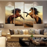 Artryst Prind Framed modern living room bedroom wall decor home decoration horse canvas painting wall art print Painting picture