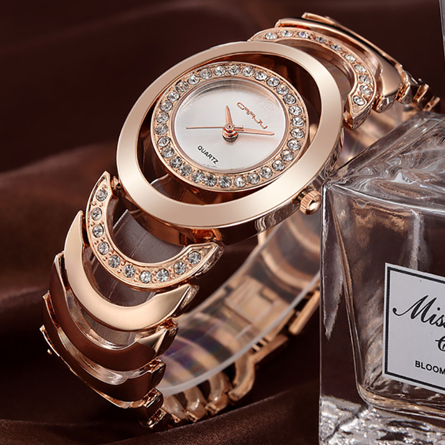 2018 Fashion Casual Wrist Watch Women Gold Silver Lady Bracelet Golden Brand Wristwatch Relogio Feminino Hodinky Montre Femme 36