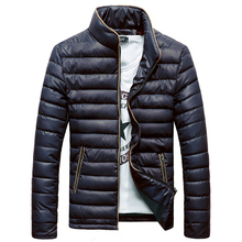 Brieuces new feather padded collar men Slim Korean winter coat male youth casual mens jacket tide