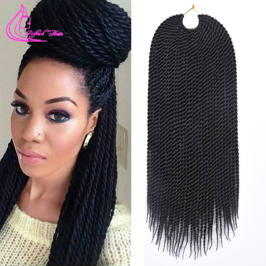 Crochet Hair Cheap : Cheap Crochet Braid Hair 18 75g 30 Roots Havana Mambo Crochet Twist...