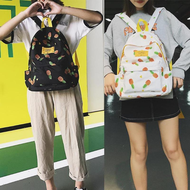 6690c87d13a Women Cute Pineapple Backpack College Style Teenage Girls Travel Schoolbag  Fashion Shoulder Bags Features  Exquisite design  generous and decent