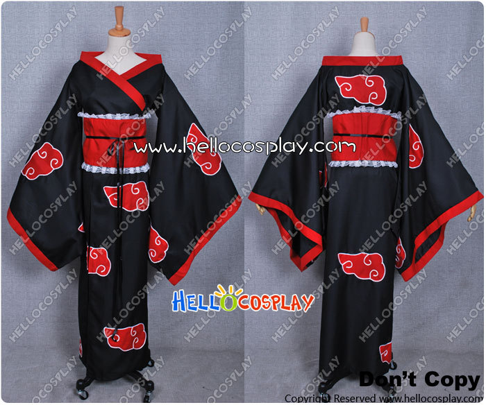 Naruto Cosplay Organization Akatsuki Female Cloak H008