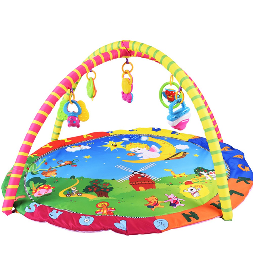 Nouveau multifonction doux bébé 3 en 1 cadre de Fitness musique plancher ramper couverture tapis enfants couverture