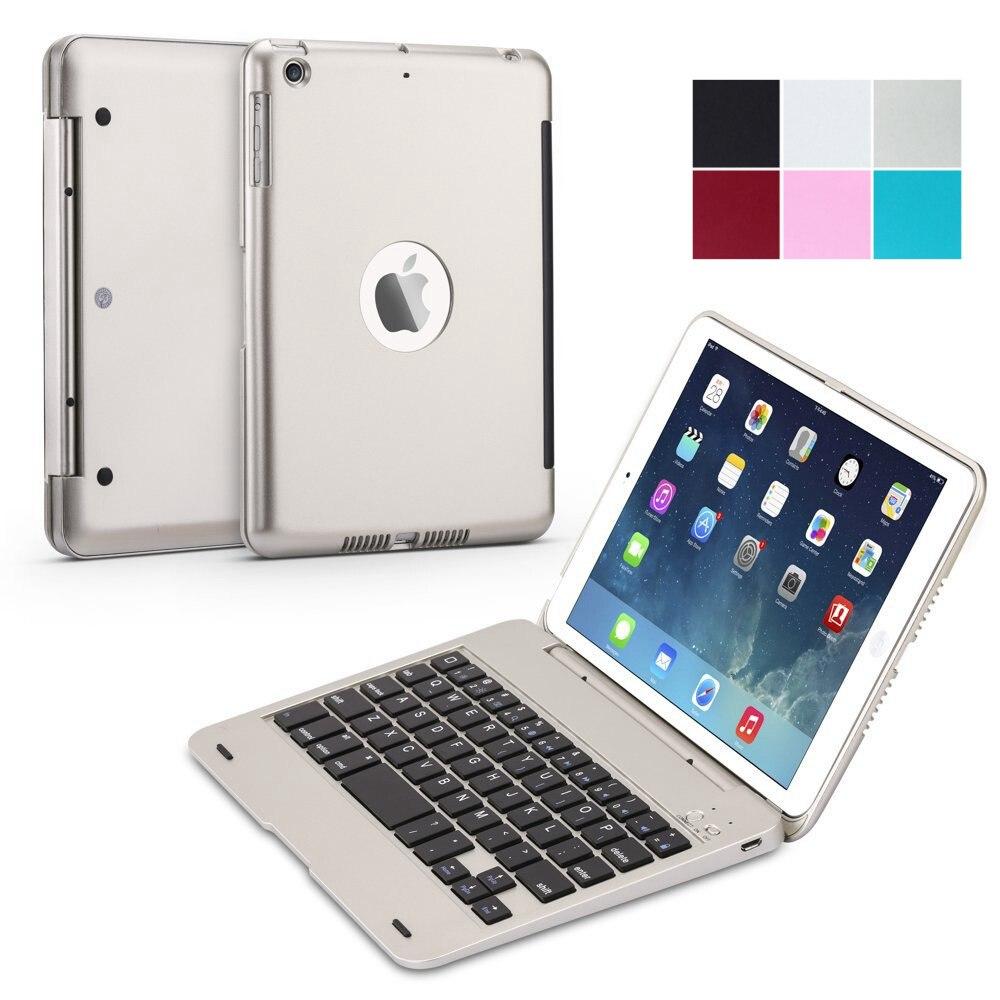 Teclado sem Fio Shell para Ipad Ultra Slim Folio Clamshell Leve Abs Bluetooth Inteligente Stand Case Capa Mini 1 – 2 3