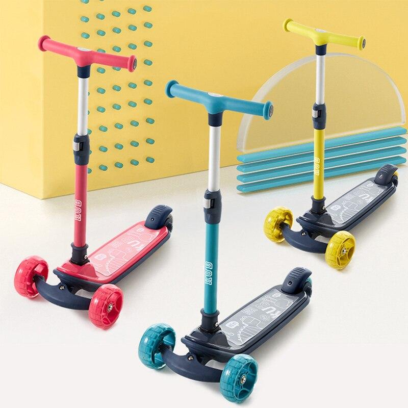 Bébé santé sport enfants trois roues Balance vélo Scooter bébé marcheur 1-14 Y multifonction Ride jouet réglable bébé marcheur