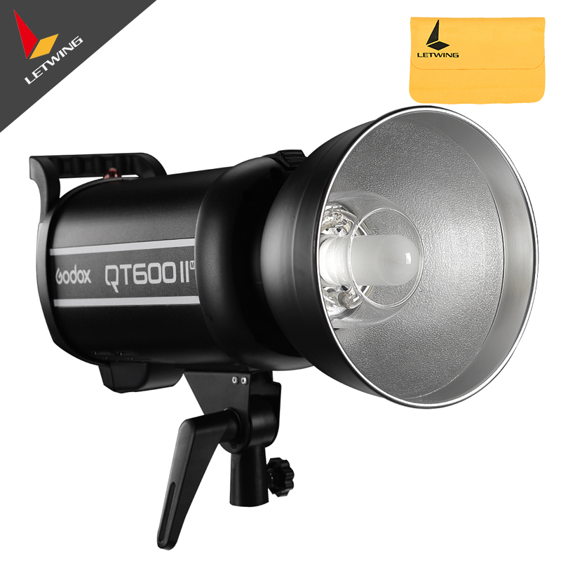 Free DHL!Newest Godox QT600II QT-600IIM 600WS GN76 1/8000s High Speed Sync Flash Strobe Light with Built in 2.4G Wirless System godox ar400 400w li ion battery lcd panel powerful macro led ring flash speedlite video light kit with free dhl ems