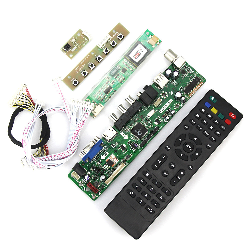 T.VST59.03 LCD/LED Controller Driver Board For N141I3-L02 LP141WX3-TLN1 (TV+HDMI+VGA+CVBS+USB) LVDS Reuse Laptop 1280x800