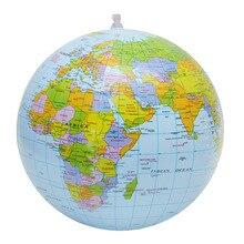 30 см надувной глобус мир Земля Карта океана мяч для обучения в области географии обучающий пляжный мяч Детская игрушка для украшения дома