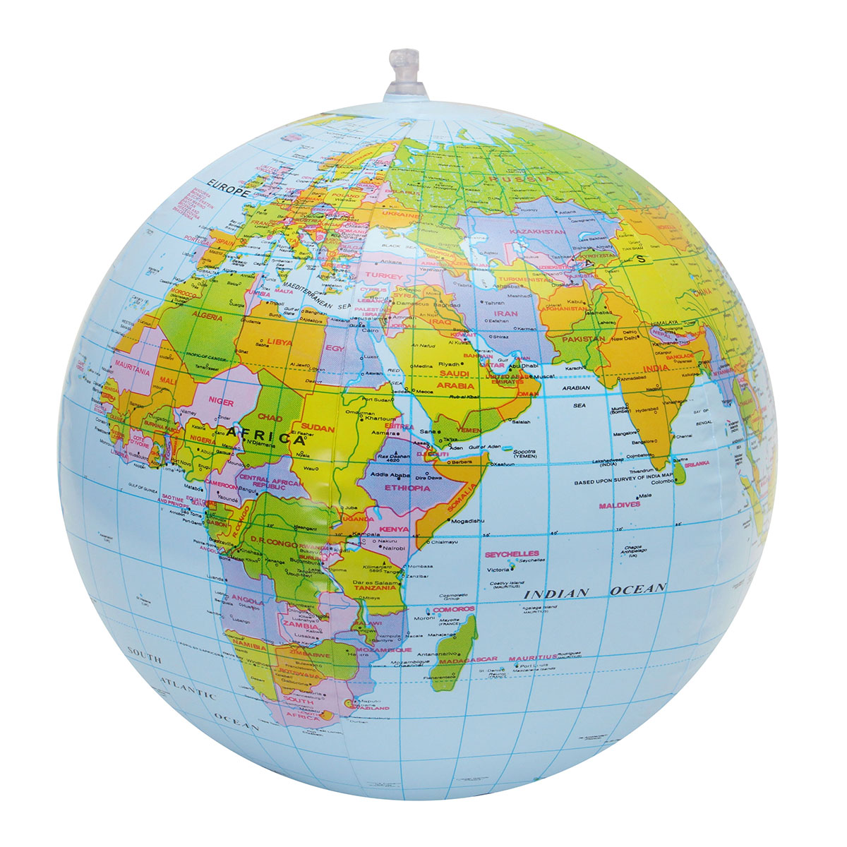 30cm Inflatable Globe World Earth Ocean Map Ball Geography Learning Educational Beach Ball Kids Toy Home Officedecoration