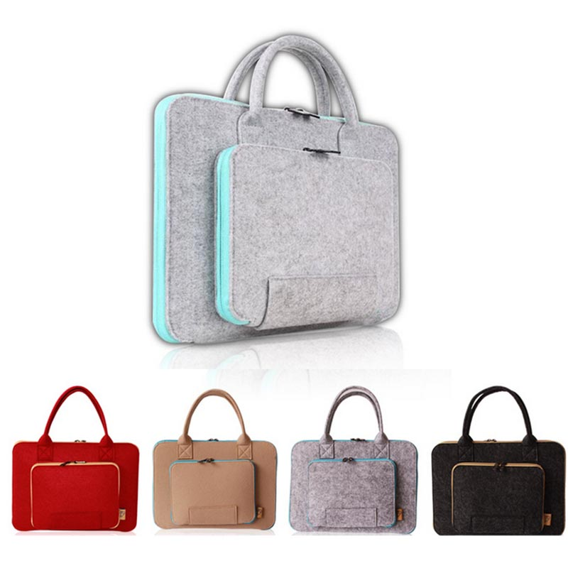 11 13 <font><b>15</b></font> inch Wool Felt <font><b>Notebook</b></font> Computer Laptop Bag <font><b>Case</b></font> for Macbook Air 11 13 Pro <font><b>15</b></font> Retina <font><b>xiaomi</b></font> huawei HandBag Men Women image