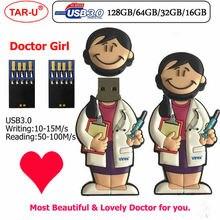 Красивый и привлекательный врач девушка и в виде медсестры USB3.0 флеш-накопитель 64 ГБ 32 ГБ флэш-накопитель