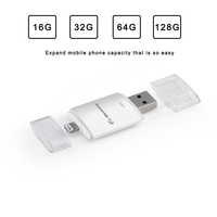2 trong 1 128 gb pen drive đối với iphone 7 7 cộng với Dr. Bộ Nhớ 16 GB mã hóa U đĩa cho iphone 6 6 s USB OTG Ổ Đĩa Flash 32 GB 64 GB pendrive