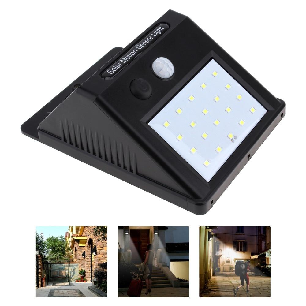 20 LED Solar Power PIR Motion Sensor Light Night Security Wall Door Patio Garden