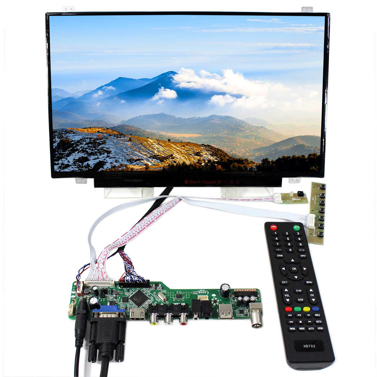 TV HDMI VGA AV USB AUDIO LCD Controller Board With 14inch LP140WD2 B140RW02 1600x900 LCD Screen tv pc hdmi cvbs rf usb audio driver board 13 3inch lp133wd1 sla1 1600x900 ips lcd