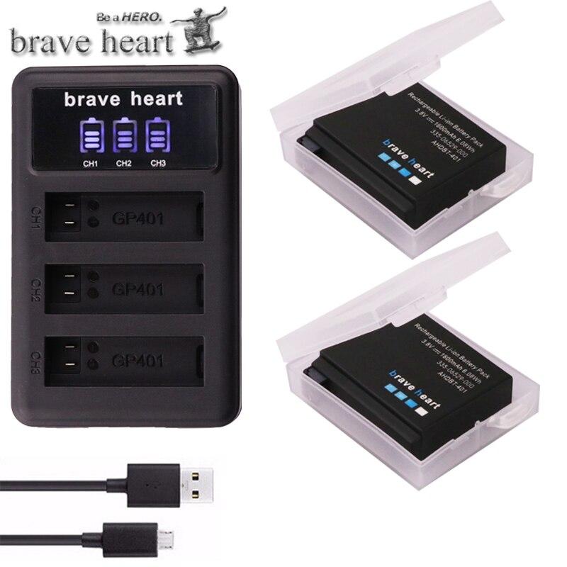 00 401 335-06532 Batería 1160mah para go pro GoPro HD Hero 4 Black Silver plus AHDBT
