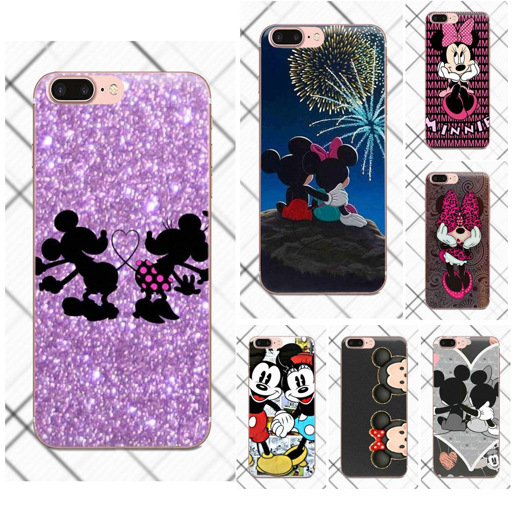 Cute Couple Mickey Minnie Mouse Soft TPU Cover For Huawei G8 Honor 5C 5X 6 6X 7 8 9 Y5II Mate 9 P8 P9 P10 P20 Lite Plus 2017