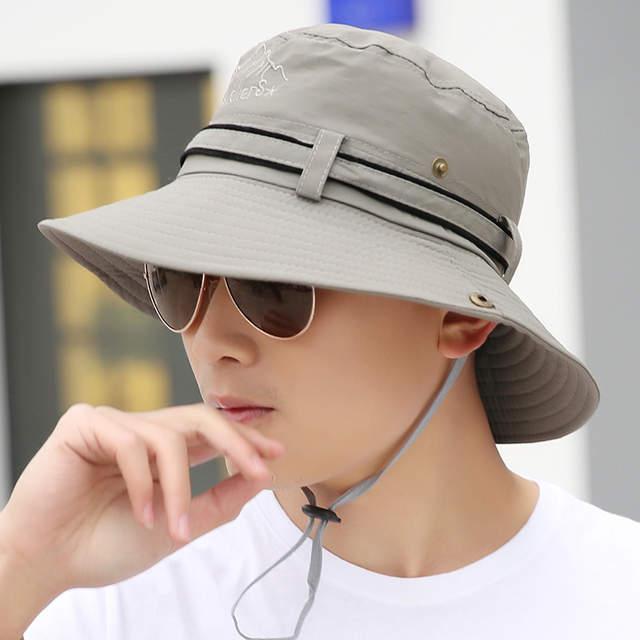 18312055bef 2018 New Spring Men women Travel Cap Sun Hats Summer Fashion Men Bucket Hat  Holiday Seaside