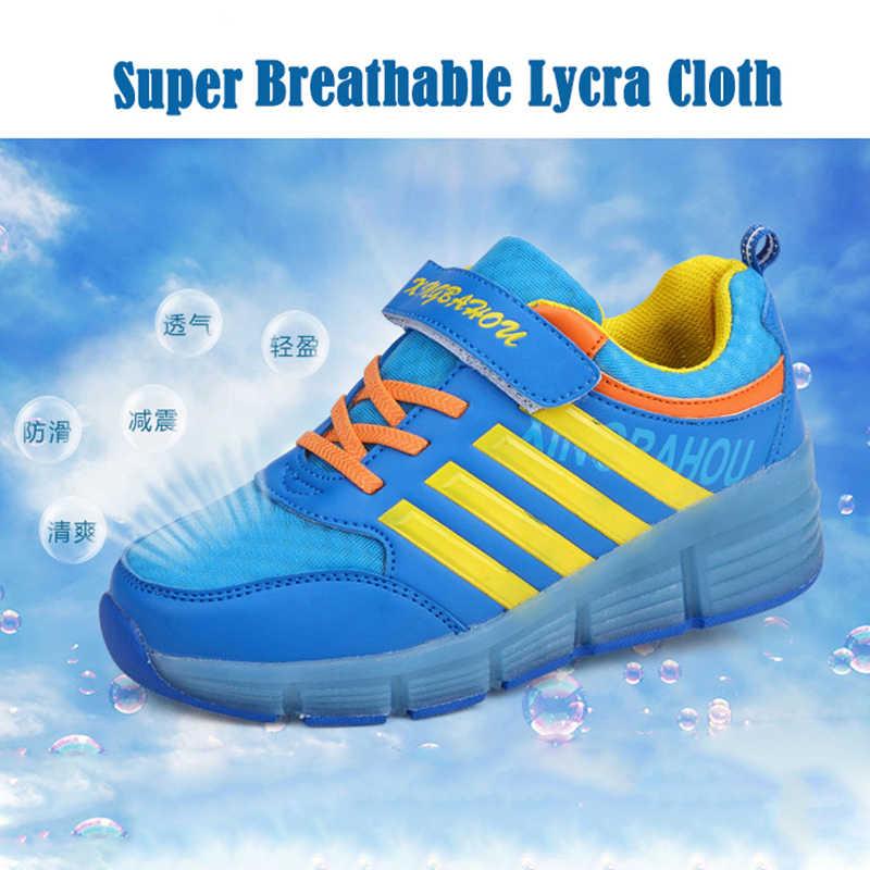 2019 zapatos de niños geniales zapatillas luminosas zapatillas de deporte brillantes para niños zapatos de luz para niñas niños zapatos de rodillo con ruedas