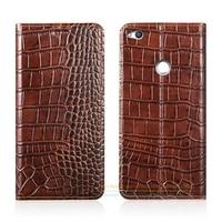 Crocodile Grain Genuine Leather Case For Huawei P8 Lite 2017 Version Honor 8 Lite Phone Cover