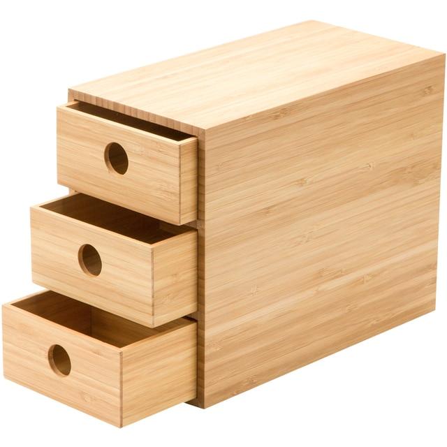 Boîte De Rangement De Tiroir En Bambou De Modélisation De Mode Unique Jolie  Boîte De Rangement