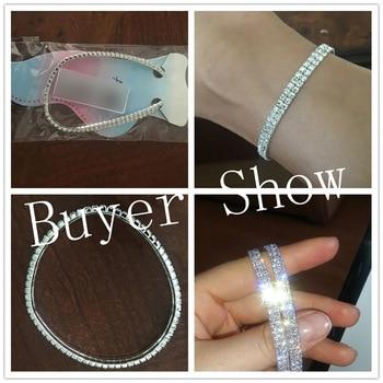 Shiny Crystal Rhinestone Elastic Anklets for Women Ankle Bracelet on the Leg Bracelet Layered Anklet Foot Jewelry enkelbandje 4