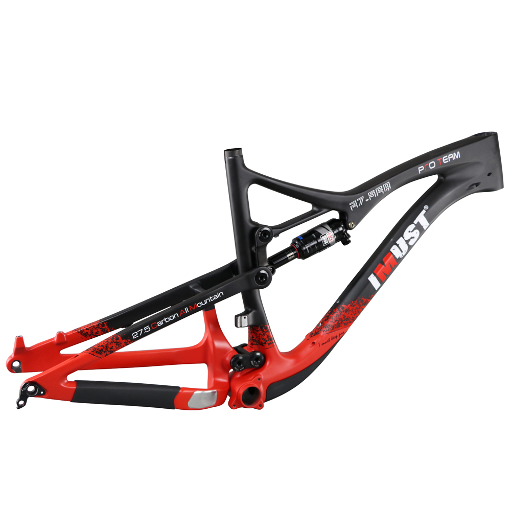 Professional carbon all mountain bicycle frame 27.5er IMUST New MTB frames 142x12 boost rear axle 150mm travel S7