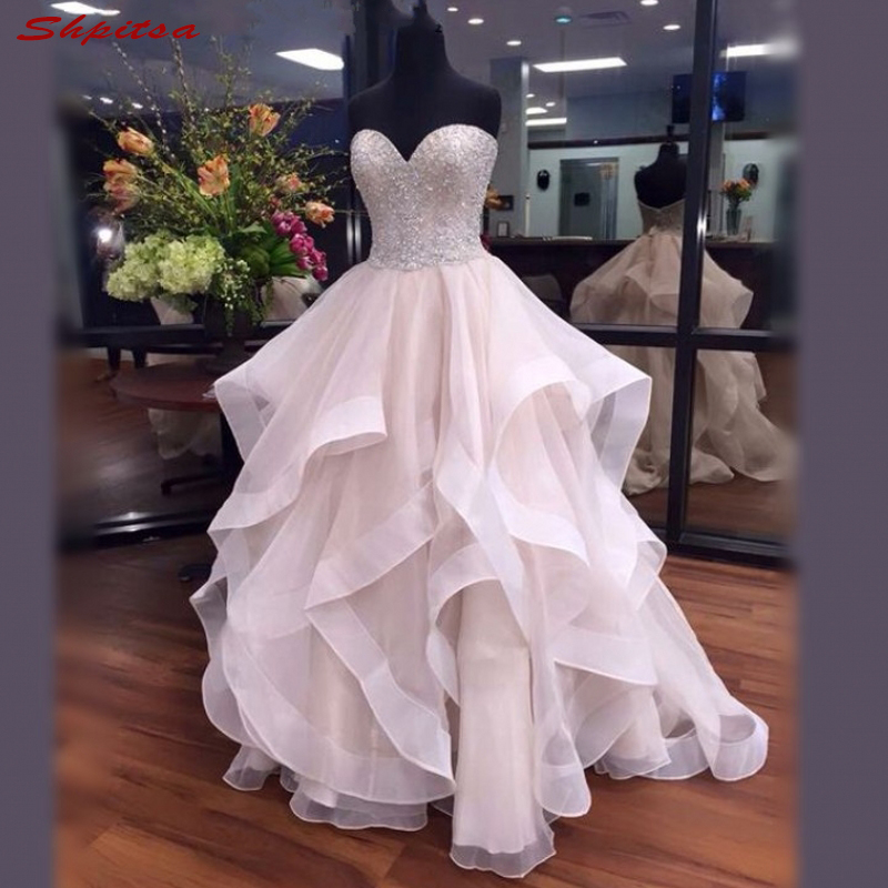 Luxury Pink Mother Of The Bride Dresses For Weddings Ruffle Sweetheart A Line Evening Groom Godmother Dresses
