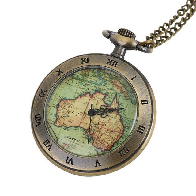OTOKY 2018 Vintage Quartz Pocket Watch Necklace reloj de bolsillo Fob Clock With Chain Gift Necklace Bronze for women men Jan01