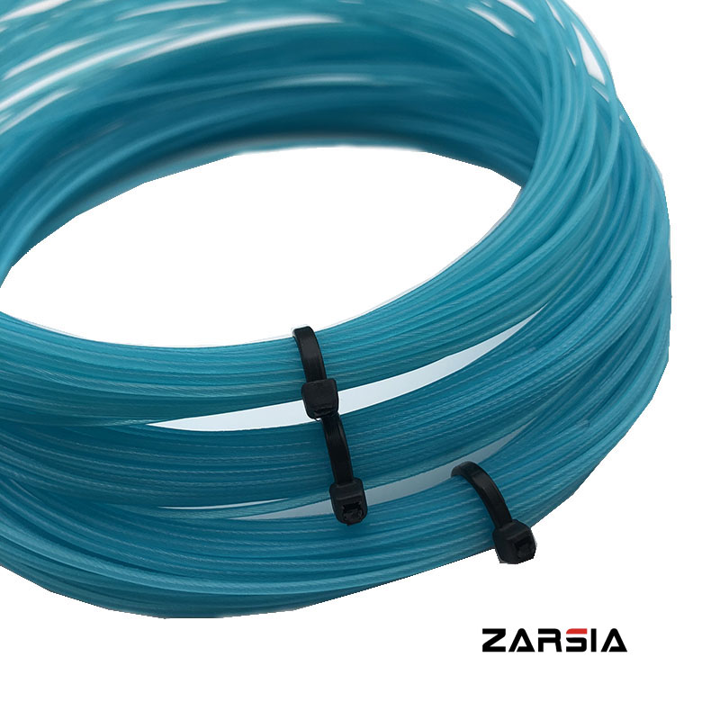 10pcs ZARSIA Tennis Racket String 1.30mm Nylon Tennis Training String 12m Soft Feel Sky Blue