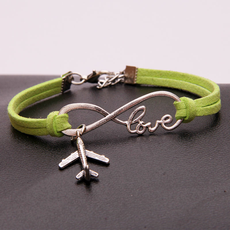 US $1 2 |Drop Shipping 18Colors Infinity Love Airplane Charm Braided  Bracelet & Bangles Handmade Bracelets Careers Jewelry For Women Men -in  Chain &