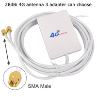 sma זכר עבור ניו 4G אנטנה 28dBi SMA זכר / CRC9 / TS9 Aeria עבור 4G LTE FDD / TDD הנתב למודם E3272 E5372 E5573 E3372 B315 B525 B593 B31 (2)