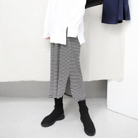 Spring Classic Black And White Stripe Long Easy Leisure Time Sweater Longuette Dress
